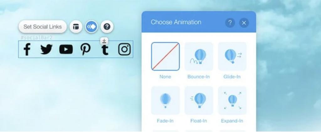 animation button